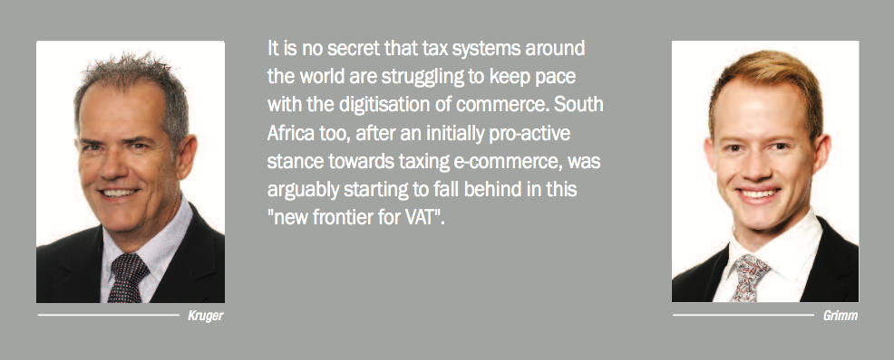 In This Article We Address The Existing Position Of VAT And E Commerce South Africa Recommendations Made By Davis Tax Committee DTC Its